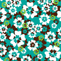 Retroflowers scuba, green