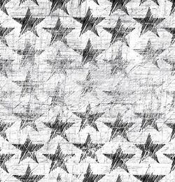 Chalk stars organic french terry, white