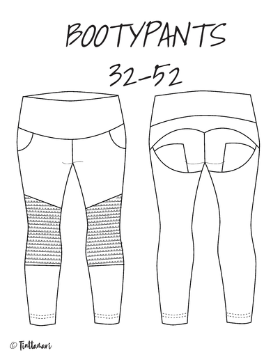 BOOTYPANTS SIZES 32-52